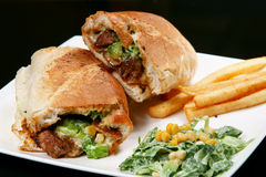 Sanduíche de bife da carne Fotografia de Stock