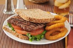 Sanduíche de bife do cubo Foto de Stock Royalty Free