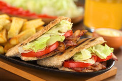 Sanduíche de BLT Pita Fotos de Stock
