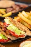 Sanduíche de BLT Pita Imagem de Stock Royalty Free
