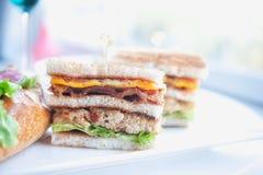 Sanduíche de clube clássico Imagem de Stock