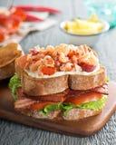 Sanduíche de clube da lagosta Fotografia de Stock