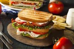 Sanduíche de clube de Turquia e de bacon Fotos de Stock