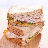 Sanduíche de clube do peru do supermercado fino Fotos de Stock