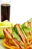 Sanduíche de clube saboroso Fotografia de Stock