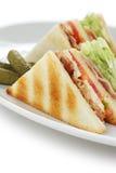 Sanduíche de clube, sanduíche do clube fotos de stock royalty free