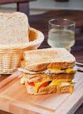 Sanduíche de galinha da casa do clube imagem de stock