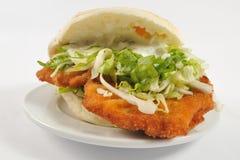 Sanduíche de galinha do close up Imagens de Stock