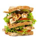 Sanduíche de galinha grelhado Foto de Stock Royalty Free