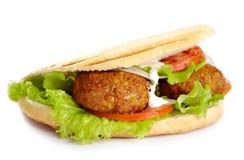 Sanduíche de Kebab fotos de stock