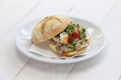 Sanduíche de Lampredotto, alimento italiano imagens de stock