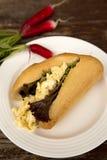Sanduíche de Omelete Foto de Stock
