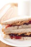 Sanduíche de P&B J imagem de stock royalty free