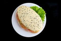 Sanduíche de Panini com vegetais Fotos de Stock