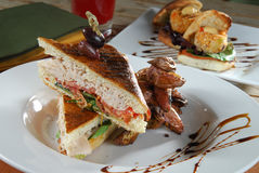 Sanduíche de peru do gourmet Imagem de Stock