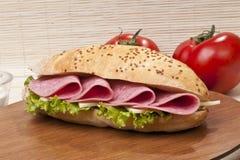 Sanduíche de presunto Imagens de Stock