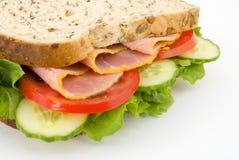 Sanduíche de presunto Fotografia de Stock