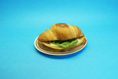 Sanduíche de presunto com queijo e alface Fotografia de Stock