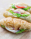 Sanduíche de presunto do croissant Foto de Stock Royalty Free