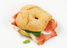 sanduíche de presunto Seco-curado fotos de stock royalty free