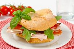 sanduíche de presunto Seco-curado fotografia de stock royalty free