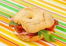 sanduíche de presunto Seco-curado imagem de stock royalty free