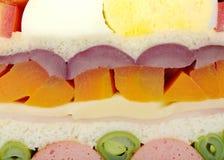 Sanduíche (de seção transversal) imagem de stock