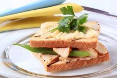 Sanduíche de turquia Foto de Stock