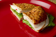 Sanduíche de turquia Imagens de Stock