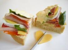 Sanduíche delicioso Fotografia de Stock