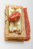 Sanduíche do abobrinha Fotografia de Stock