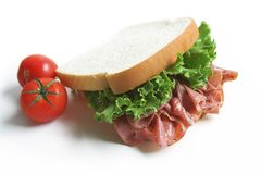 Sanduíche do almoço Fotografia de Stock