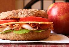 Sanduíche do Bagel Foto de Stock Royalty Free
