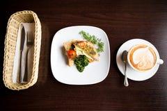 Sanduíche do café da manhã Fotografia de Stock