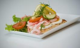 Sanduíche do camarão Imagens de Stock Royalty Free