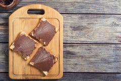 Sanduíche do creme do nougat da porca Fotos de Stock Royalty Free