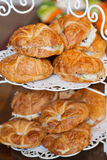 Sanduíche do croissant Imagem de Stock Royalty Free