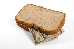 Sanduíche do dinheiro Foto de Stock Royalty Free