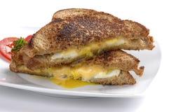 Fried Egg Sandwich fotografia de stock royalty free