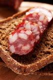 Sanduíche do pão de Rye com salsicha Imagem de Stock Royalty Free