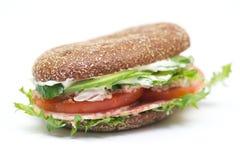 Sanduíche do pão de trigo inteiro Fotos de Stock Royalty Free