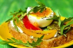 Sanduíche do pão inteiro da grão Imagem de Stock