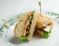 Sanduíche do peito de frango imagens de stock royalty free