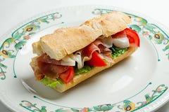 Sanduíche do peito de frango Foto de Stock Royalty Free