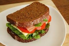 Sanduíche do presunto e do queijo Foto de Stock