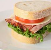 Sanduíche do presunto e do queijo Fotos de Stock
