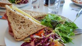 Sanduíche do presunto e do queijo Imagens de Stock Royalty Free