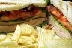 Sanduíche do supermercado fino Imagem de Stock