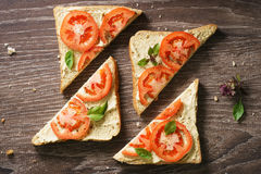 Sanduíche do tomate Imagem de Stock