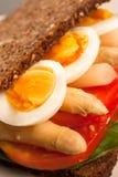 Sanduíche do vegetariano fotos de stock
